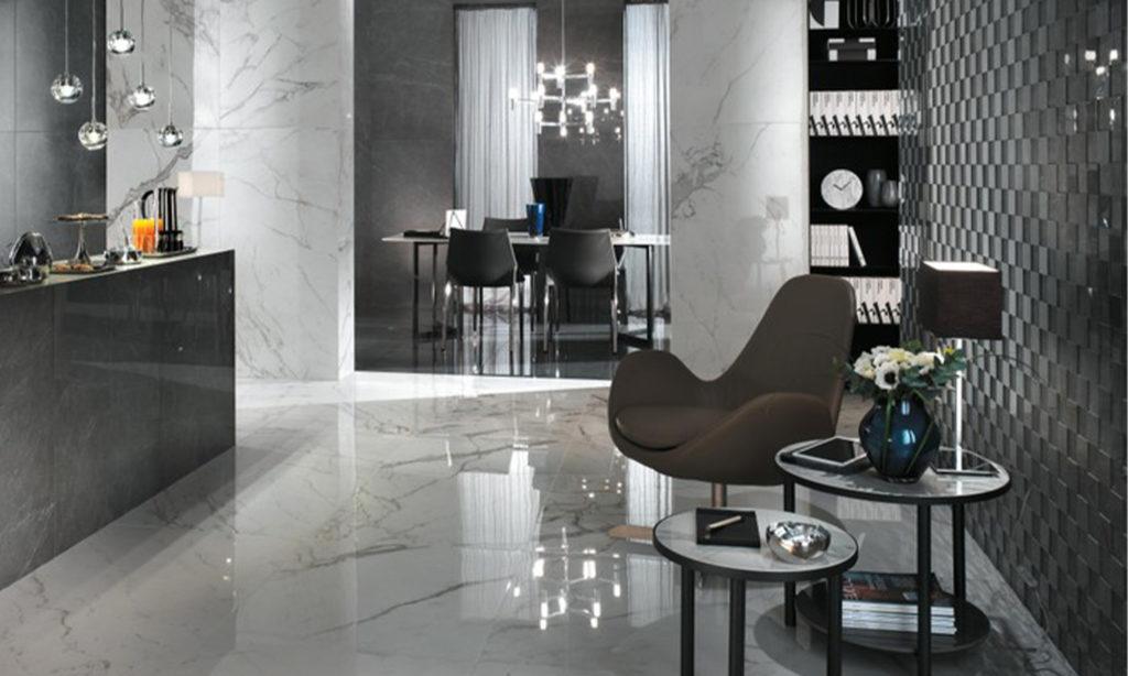 casa palladio realizzazione atlas concorde soggiorno interno marmo superfici